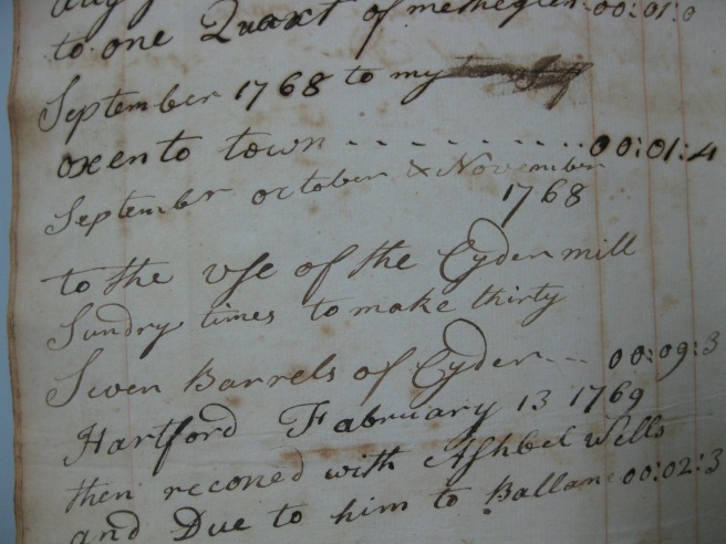 September October & November 1768