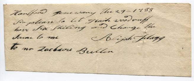 Abijah Flagg's order, 1788