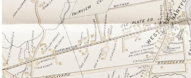 Map of West Hartford, 1896