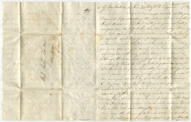 Erastus Wells to Nabby Benton, 1796 September 8 (1 of 2)