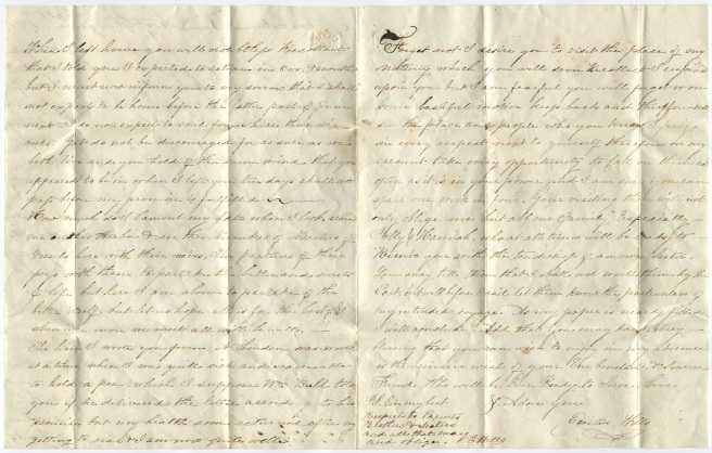 Erastus Wells to Nabby Benton, 1796 September 8 (2 of 2)